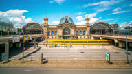 istock Dresden Germany Hauptbahnhof train station Timelapse daytime 1314726047