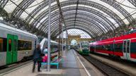 istock Dresden Germany Hauptbahnhof train station Timelapse daytime 1314733318