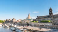istock Dresden Germany time lapse 4K, city skyline timelapse at Elbe River 1324651157