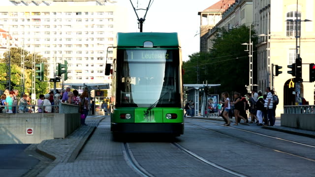 Dresden with tram video