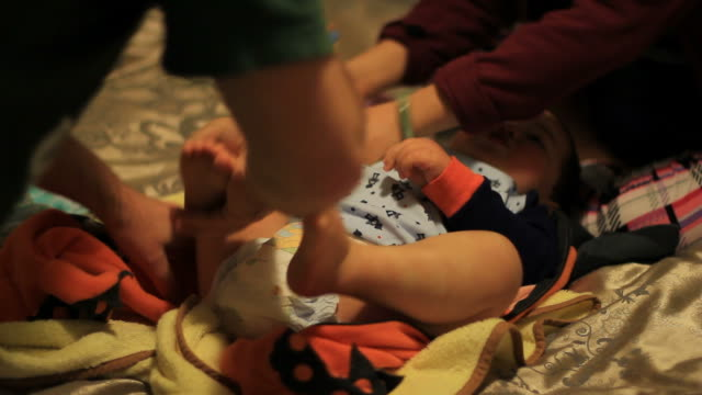 Dressing a Young Toddler Boy video