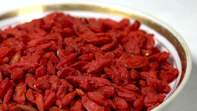 Dried Goji Berries in Shell video