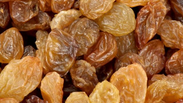 Dried grapes raisins close up