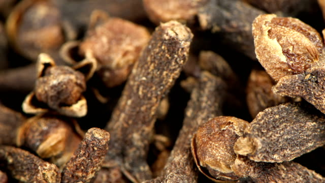 Dried inflorescences of spicy cloves video