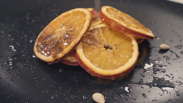 сушеный апельсин - лимонный сок стоковые видео и кадры b-roll