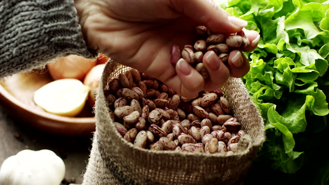 Dried pinto beans video