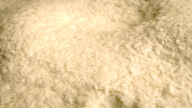 Dried Potato Flakes Rotating video