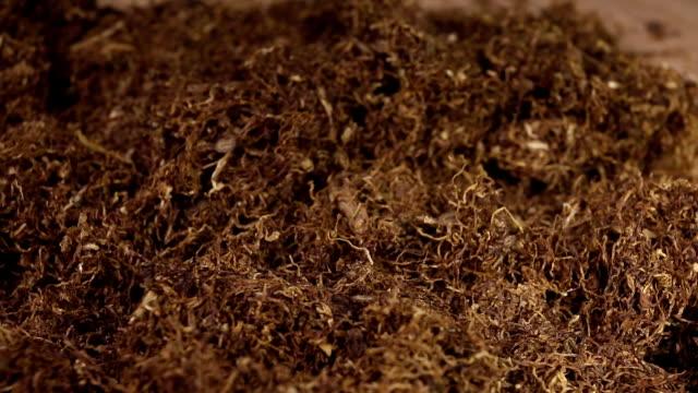 secchi di foglie di tabacco. - nicotina video stock e b–roll