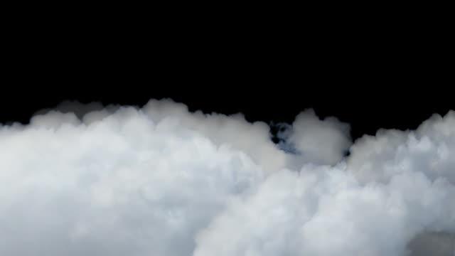 Drifting Clouds on Black Sky Variation