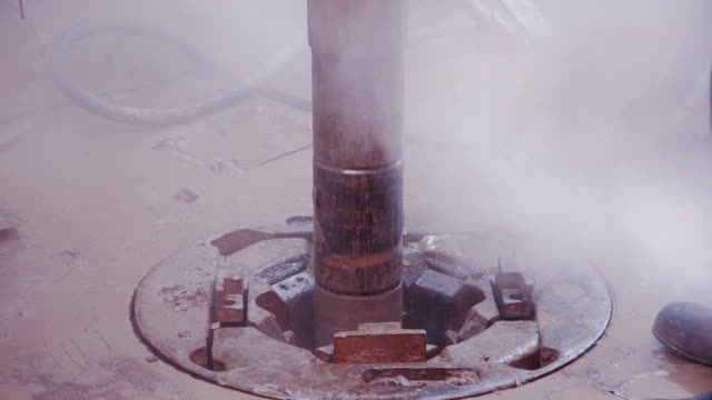 Drill pipe rotating in the rotary table video