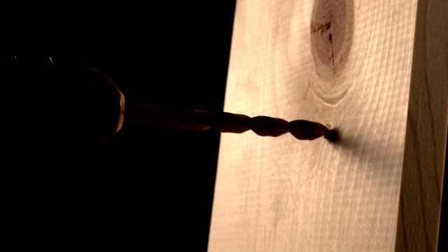 Drilling a wooden board video