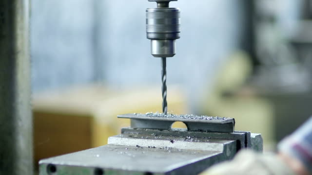 Drilling In Metal - Stock Footage video