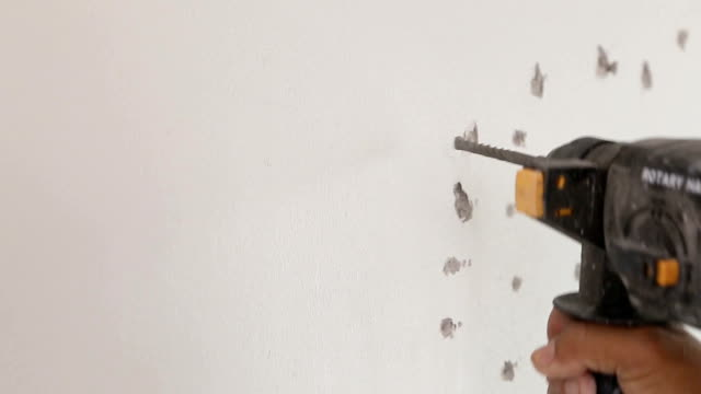 Drilling into wall video