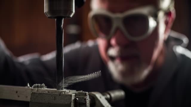 Drilling Machine - Slow motion video