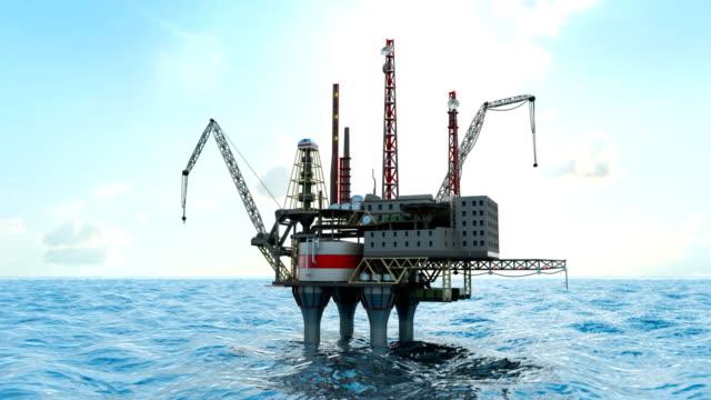 Drilling offshore platform and tanker video