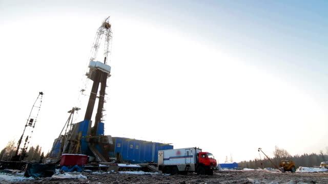 Drilling rig Winter 3 video