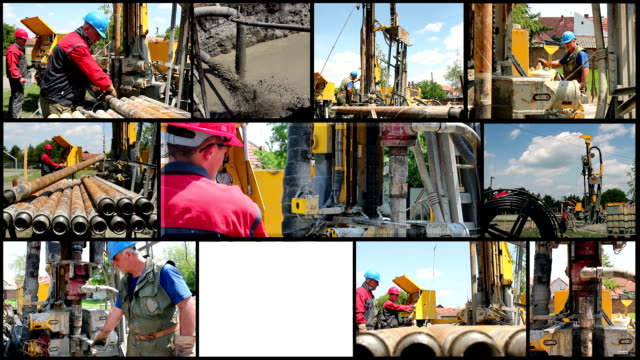 Drilling Rig Workers at Work video