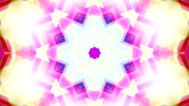 vídeos y material grabado en eventos de stock de drimlike psicodélico vídeo de películas anteriores, caleidoscopio en bucle de fondo de neón brillantes - caleidoscopio patrón