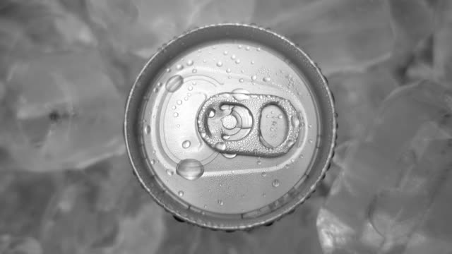 Drink can and ice