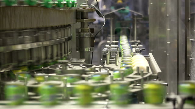 Drink Cans on the Production Lines video