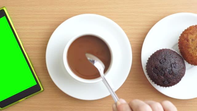 Drink coffee.