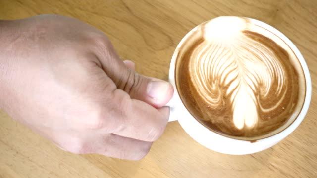 Drinking coffee 4K. video