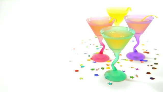 Drinks being poured in party glasses video