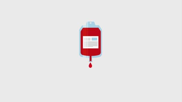 vídeos de stock e filmes b-roll de dripping blood bag donation campaign - blood donation