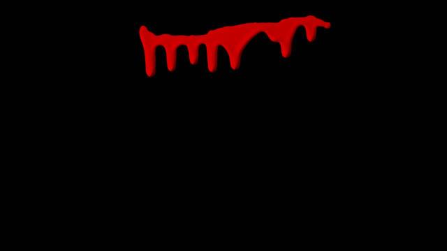 Dripping Blood Isolated Element видео