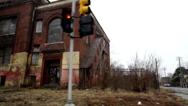 drive by damaged building - foreclosure stock videos & royalty-free footage