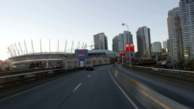 Drive into downtown Vancouver - Time-lapse video