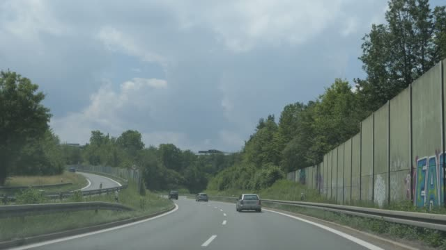 drive out of stuttgart to leonberg a831 to a8 - autobahn video stock e b–roll