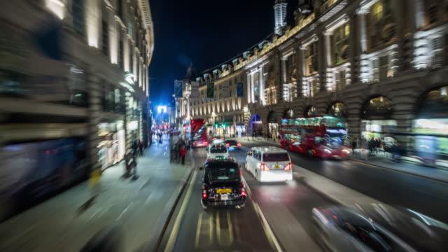 vídeos de stock e filmes b-roll de pov drive regent street in london - londres