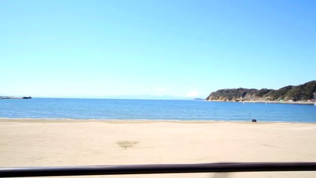 drive the road with a view of mount fuji - kustlinje bildbanksvideor och videomaterial från bakom kulisserna
