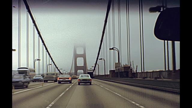 ゴールデン ゲートを通ってドライブ - アーカイブ画像点の映像素材/bロール