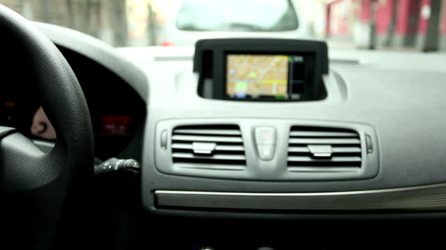 Drive with Navigation System, (Time Lapse) Drive with Navigation System, (Time Lapse) global positioning system stock videos & royalty-free footage