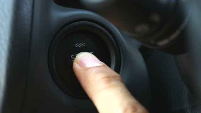Driver Finger push Engine Start Button Driver Finger push Engine Start Button power supply stock videos & royalty-free footage