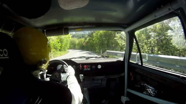 HD: Driver Rallying Along Rally Course video