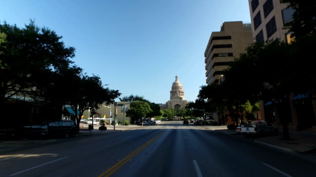 Driver's Perspective on Congress Avenue in Austin Texas video