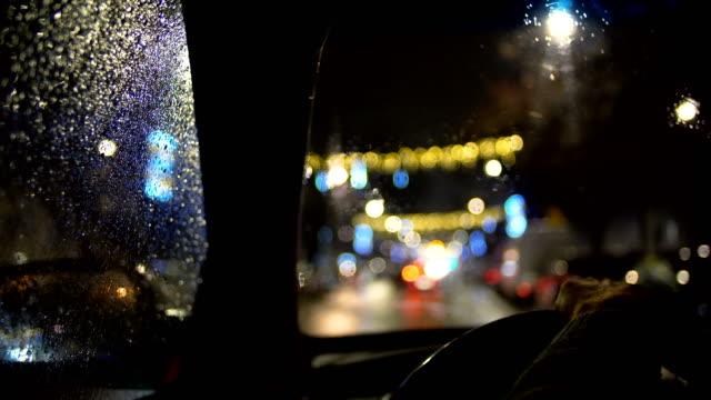 Driving a car at night video