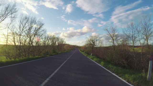 POV Driving a car in Tuscany, Italy video