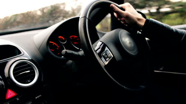 Driving a car - motor vehicle video