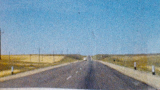 Driving Across America (Archival 1950s) Shot on Super 8mm film, 16fps. Telecine HD frame by frame digital 4:2:2 transfer. We keep all our original films stored in an archival film vault. the past stock videos & royalty-free footage