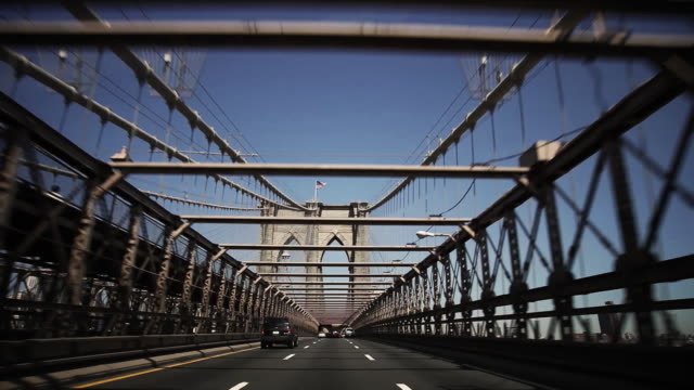 Driving across the Brooklyn Bridge video