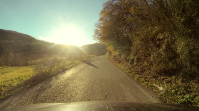 HD: Driving Along a Countryside Road video