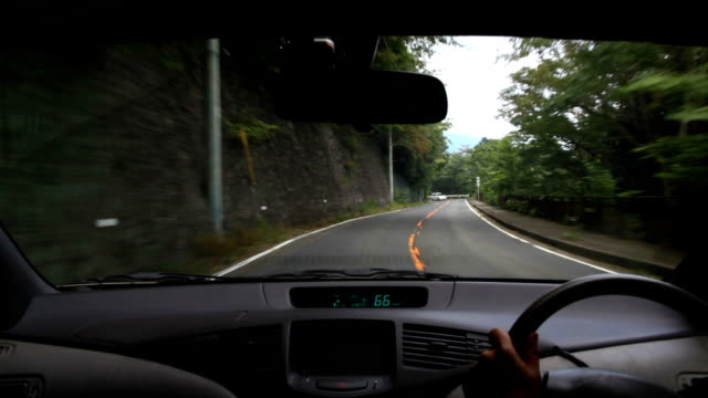 Driving at mountain road. video