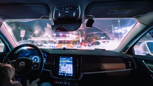 t/l ws pov körning nattetid / peking - bilperspektiv bildbanksvideor och videomaterial från bakom kulisserna