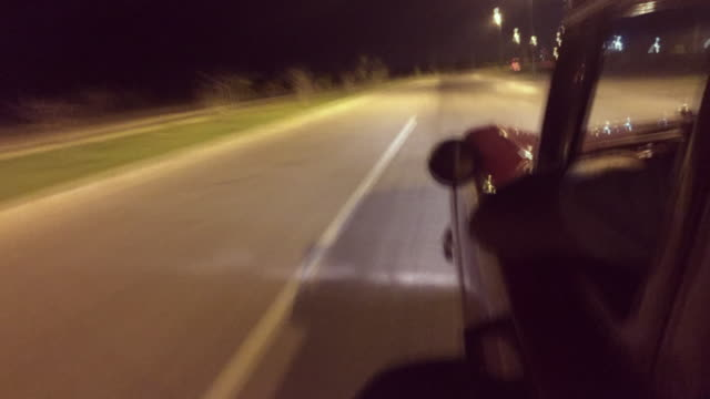 Driving at night in Cuba video