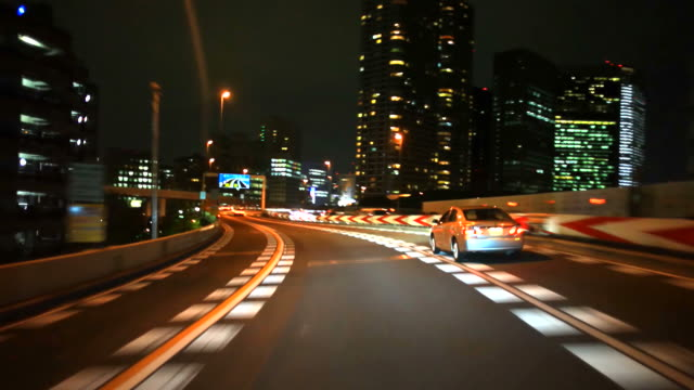 driving at night in Tokyo video