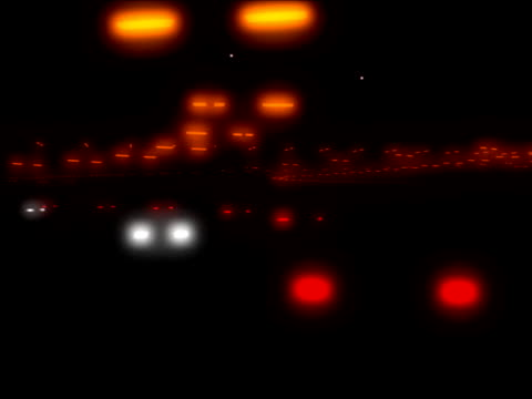 운전 야간에만 - 클립 길이 스톡 비디오 및 b-롤 화면